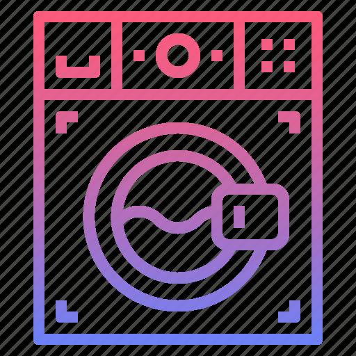 cleaning, laundry, machine, washing icon
