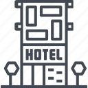 daily, guestrooms, hotel, room, service, travel icon