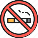 business, hotel, line, no, outline, sign, smoking icon