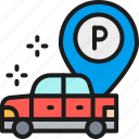 auto, car, hotel, large, parking, pointer, vehicle icon