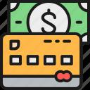 bank, banking, buy, card, credit, hotel, money icon