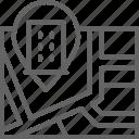 gps, hotel, location, map, mark, navigation, pin icon
