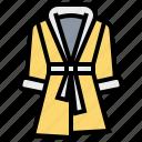bathrobe, bathroom, service, suit icon