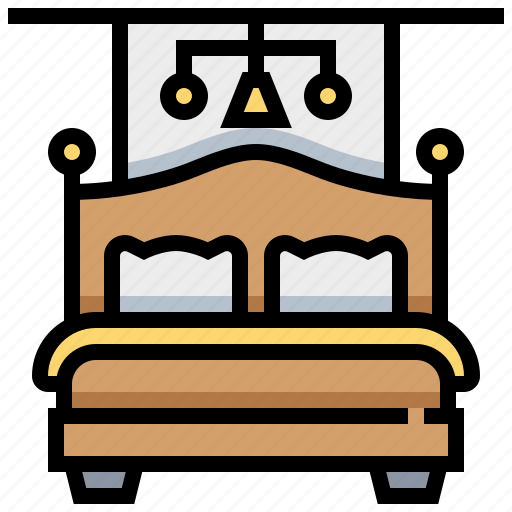 bed, pillow, room, sleep icon