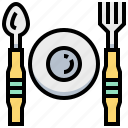 breakfast, dish, fork, spoon icon