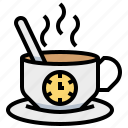breaktime, clock, coffee, cup icon