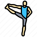 exercise, man, sport, yoga icon