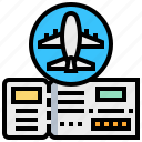 airplane, booking, fight, plane, ticket icon