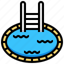 pool, relax, swim, vacation, water icon