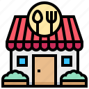 building, house, retaurant, shop icon