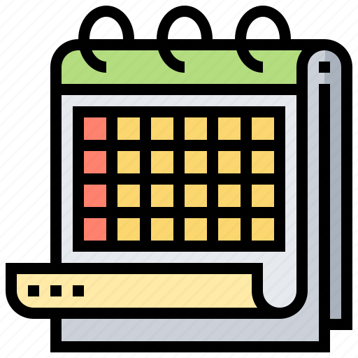 calendar, date, month, reservation, schedule icon