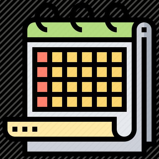 Calendar, date, month, reservation, schedule icon - Download on Iconfinder
