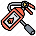 emergency, extinguisher, fire, firefighter, precaution icon