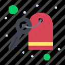 hotel, key, room