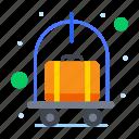 cart, hotel, luggage, trolley