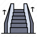 electric, elevator, ladder, stair icon