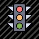 light, road, sign, trafic icon