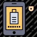 charg, full, mobile, plug icon