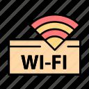 device, hotel, service, wifi icon