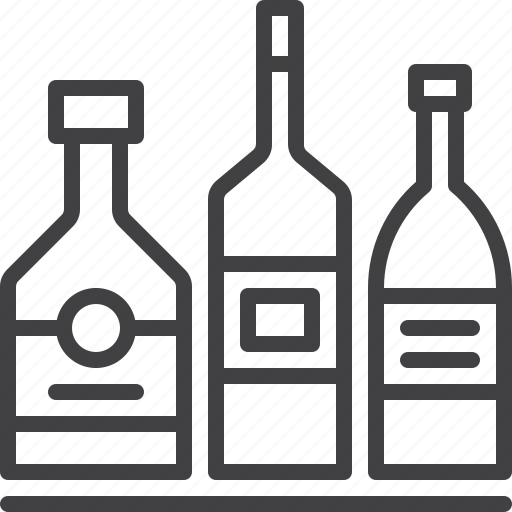 alcohol, bar, bottles, hotel icon