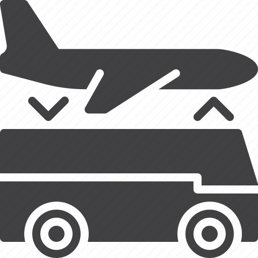 airport, bus, hotel, service, shuttle, transfer icon