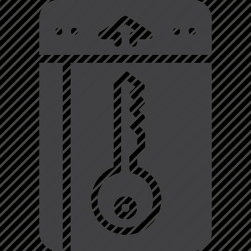 card, hotel, key, room icon