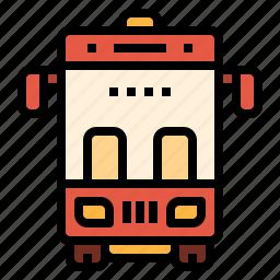 automobile, public, school, transport, vehicle icon