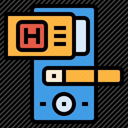 card, digital, door, key, room, security icon