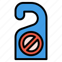 disturb, do, hanger, hotel, label, not, tag icon