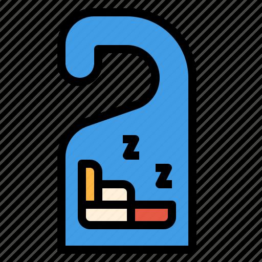 door, hanger, hotel, label, sleep, tag icon