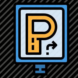 car, parking, sigh icon