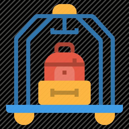bag, bellboy, hotel, porter, service, suitcase icon