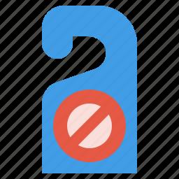 disturb, do, door, hanger, hotel, not, tag icon