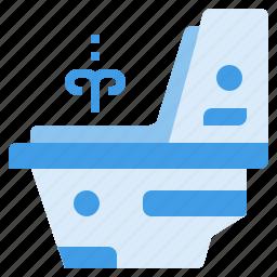 flush, restroom, toilet, wc icon