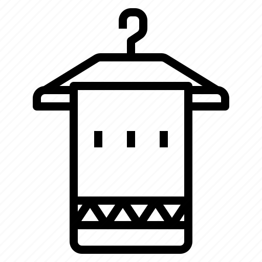 bath, bathroom, hanger, towel icon