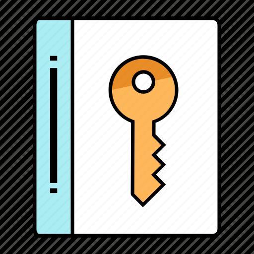 address, book, key, keyset, notepad icon