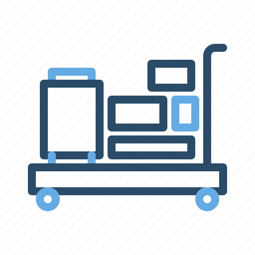 basket, cart, goods, of, trolley icon