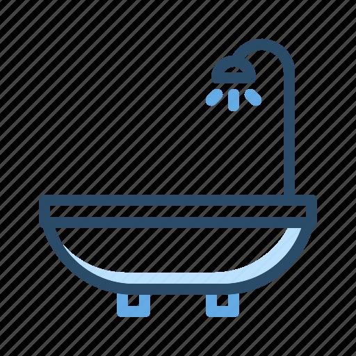bath, bathroom, shower, toilet, water icon