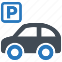 car, park, parking, parking lot, vehicle icon