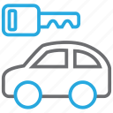 auto, car, key, rent, rental, transport, vehicle icon