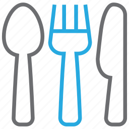 cook, cutlery, fork, kitchen, knife, restaurant, spoon icon