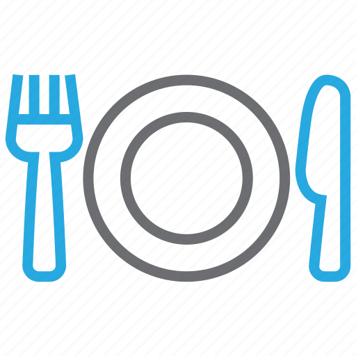 cutlery, eating, food, fork, kitchen, knife, spoon icon