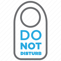 disturb, do not disturb, hotel, not, plate, room, sign icon
