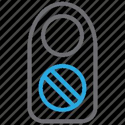 ban, forbidden, hotel, room, sign, stop, warning icon
