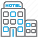 building, estate, hotel, motel, restaurant, travel, vacation icon