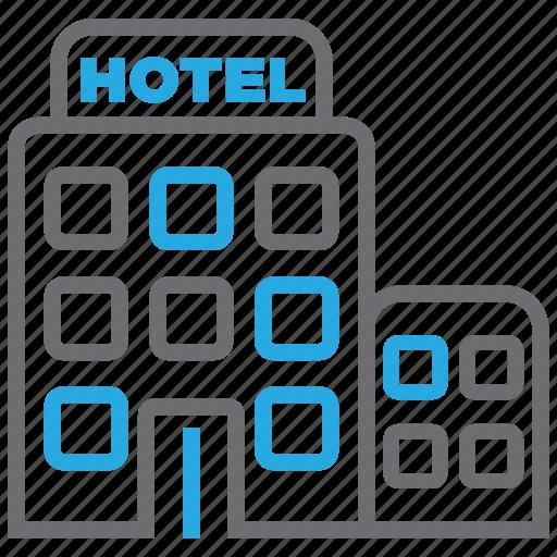 building, estate, hotel, motel, restaurant, travel, vacation icon