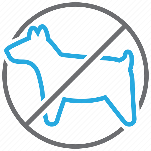 allowed, animal, forbidden, pets, prohibited, sign, warning icon