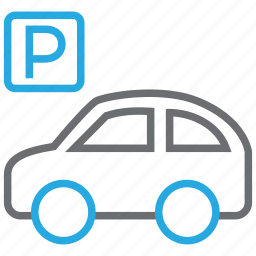 auto, car, garage, parking, parking lot, sign, vehicle icon