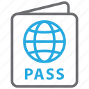 card, id, pass, passport, travel, vacation, visa icon