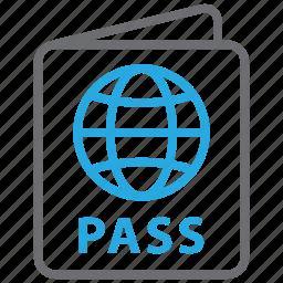 card, id, pass, passport, travel, vacation, visa icon